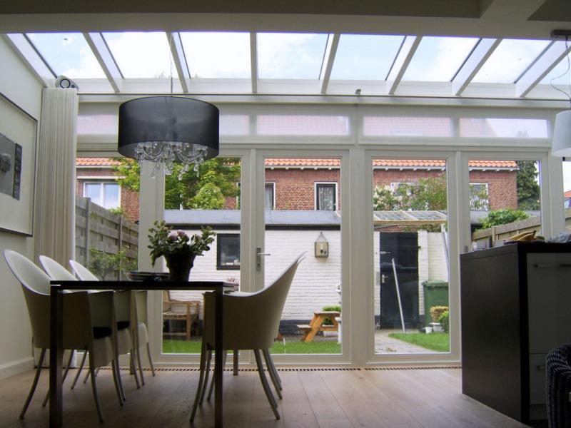 Kosten Aanbouw Met Keuken : Veranda met glazen dak H Van Den Bergh Essen